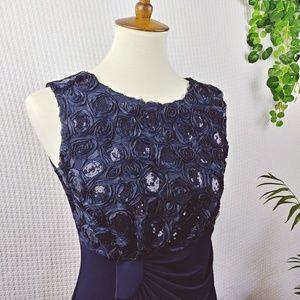 Enfocus Studio Long Sleeveless Sequin Maxi Dress